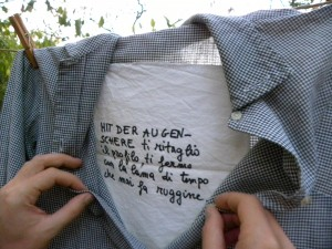 Camice: poesie su tessuto
